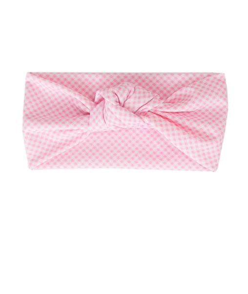 Tied & Knotted Headband - Pink Gingham