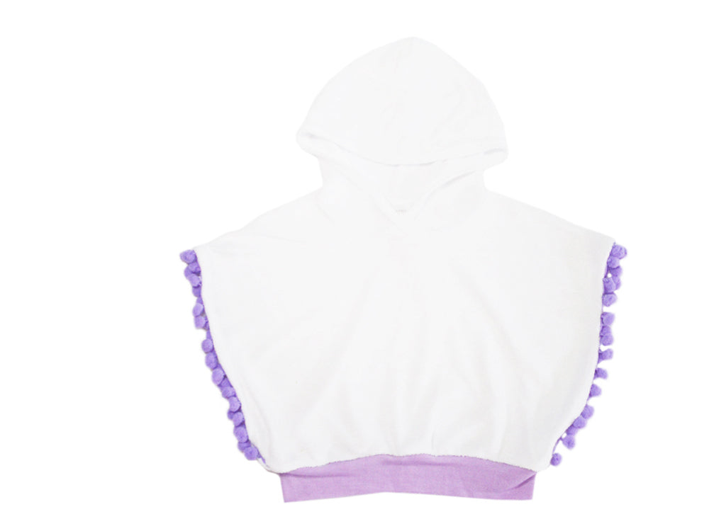 Poncho Crop Top - Purple