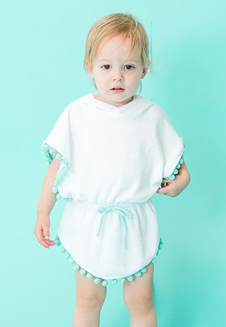 Hooded Poncho Dress - Mint