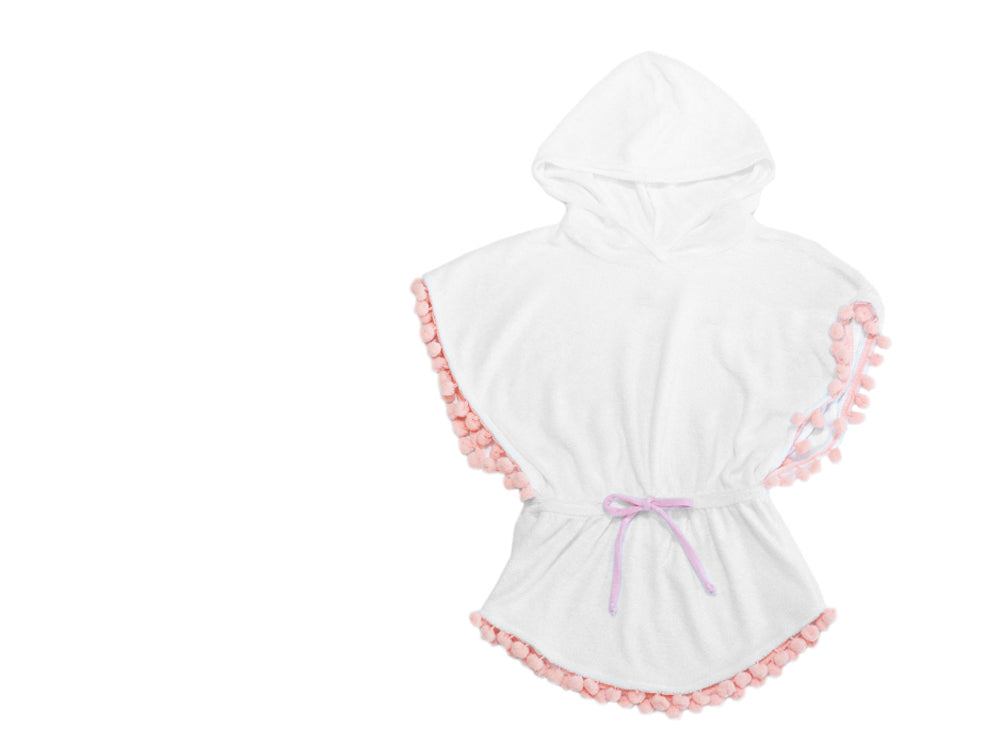 Hooded Poncho Dress - Pink