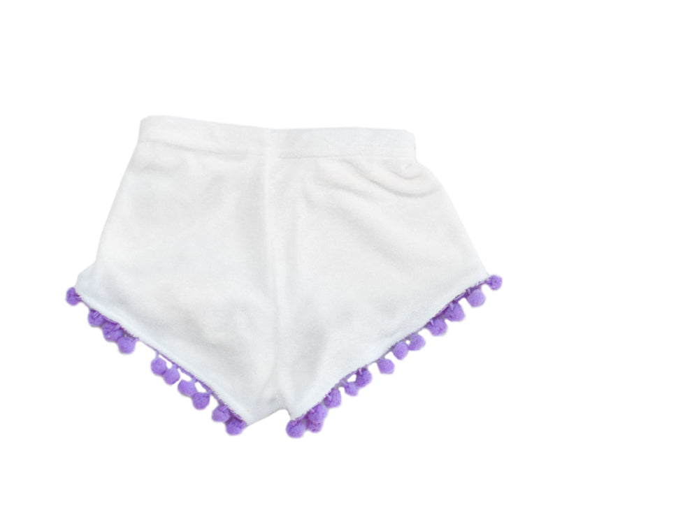 High Waisted Shorts - Purple