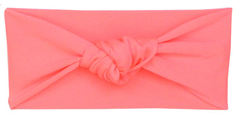 Tied & Knotted Headband - Coral