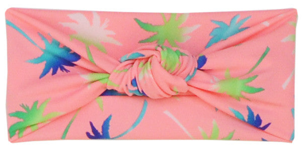Tied & Knotted Headband - Tropical Trees