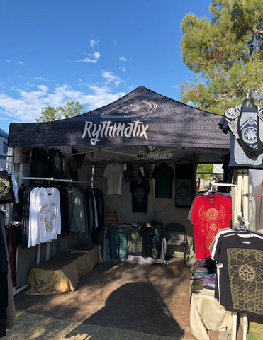 Rythmatix booth at sunny Lightning in a Bottle 2019.