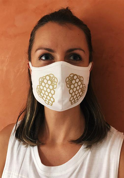 Organic Cotton Honeycomb Lungs Face Mask