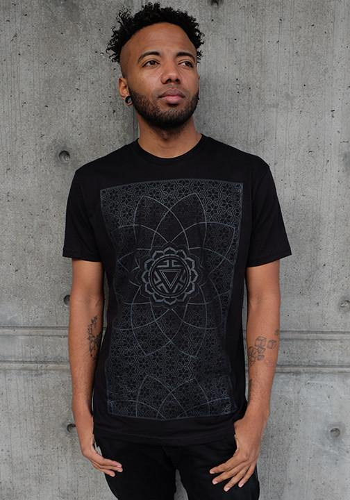 Sacred geometry black on black