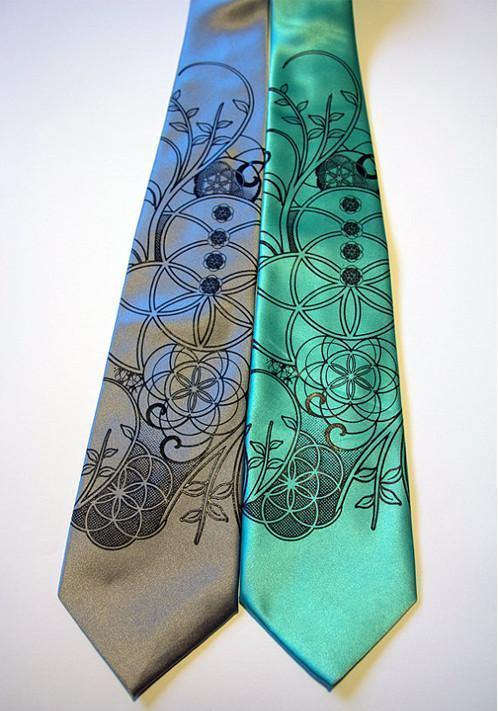 Sacred geometry flower tie