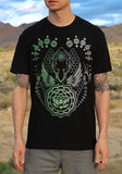 Sacred geometry flower of life lotus mens shirt