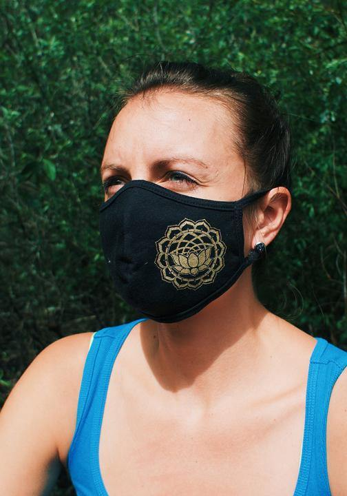 Organic Cotton Lotus Face Mask