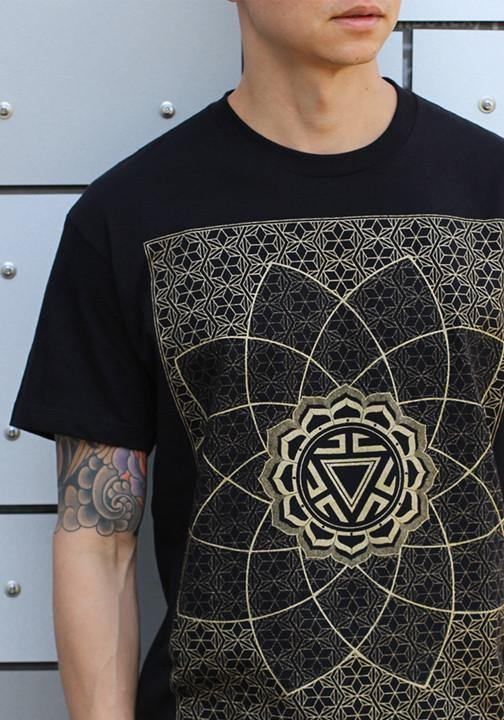 Sacred geometry mens shirt