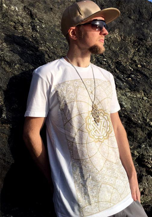 sacred geometry mens burning man shirt