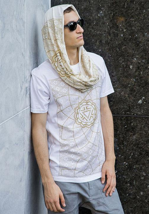 Sacred geometry shirt scarf burning man