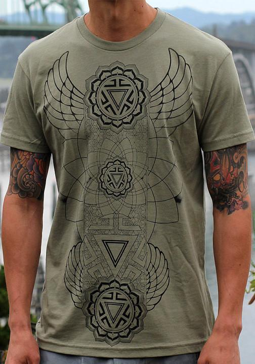 Sacred geometry flower of life Manipura Chakra shirt