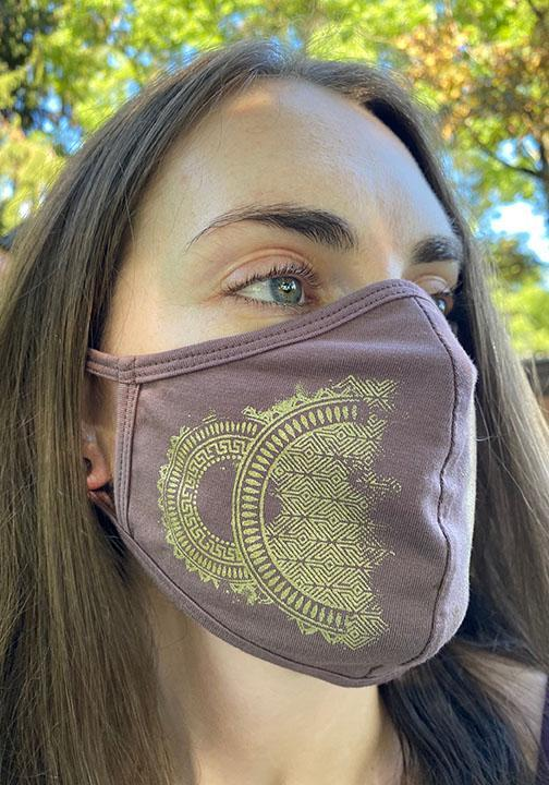 Organic Cotton Medallion Face Mask