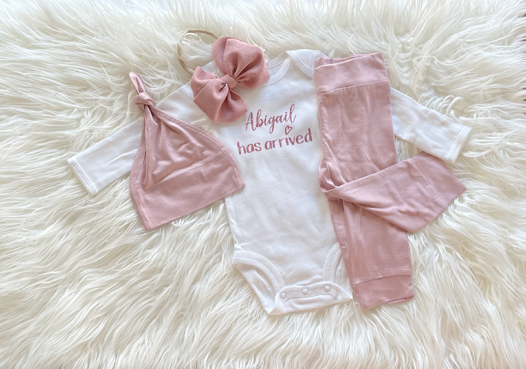 Blush Mauve Coming Home Outfit
