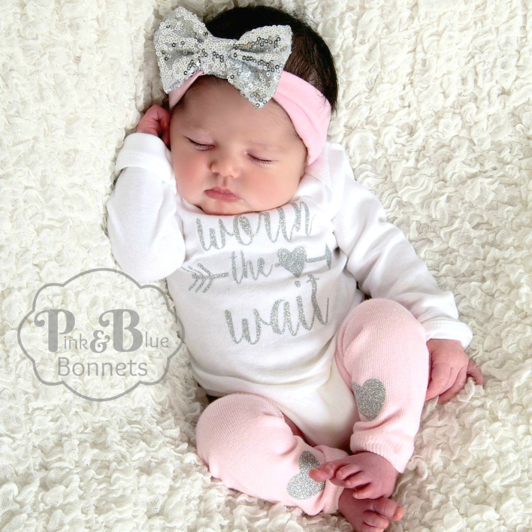 Newborn girl outfit, Baby girl coming home outfit, Baby girl