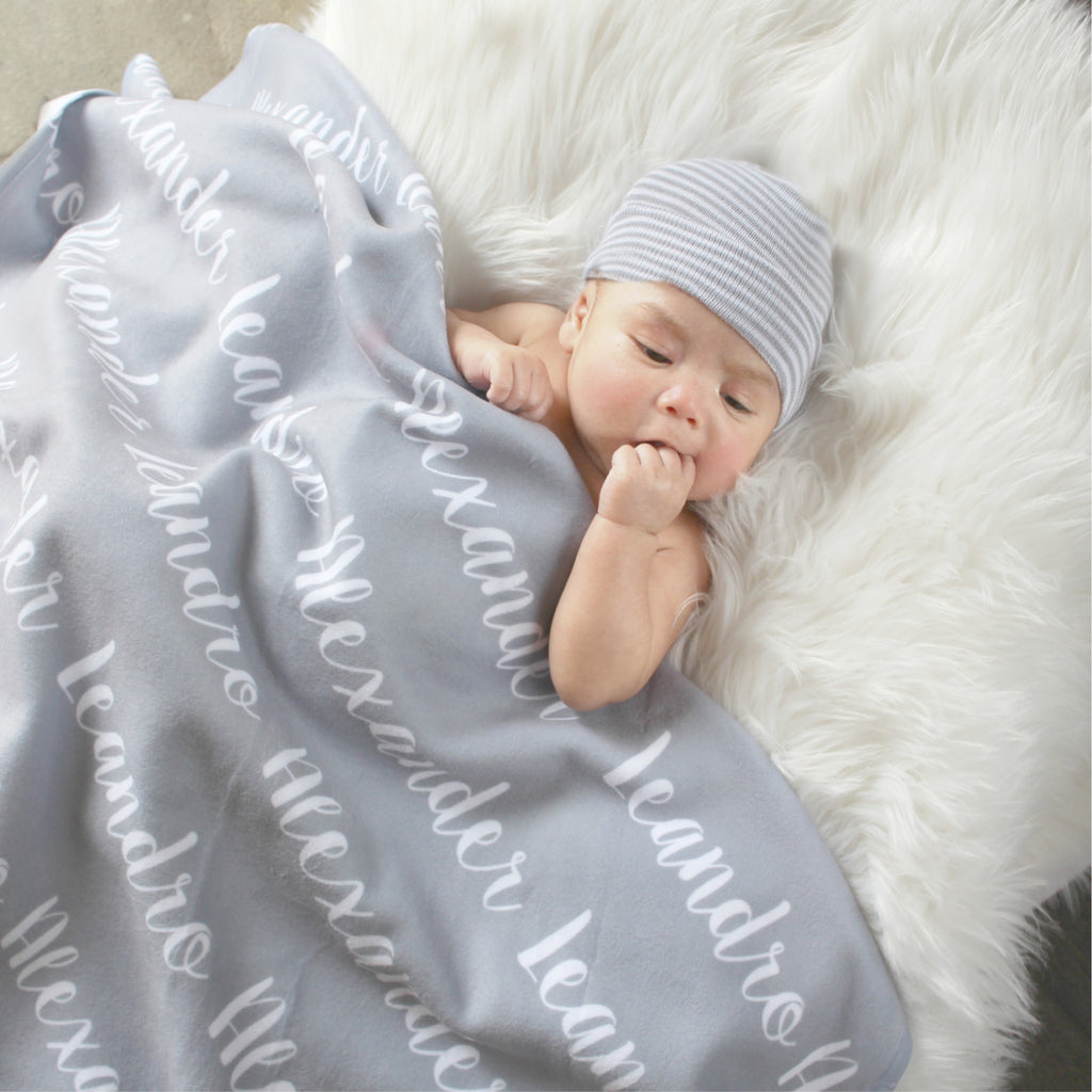Boy Personalized Swaddle