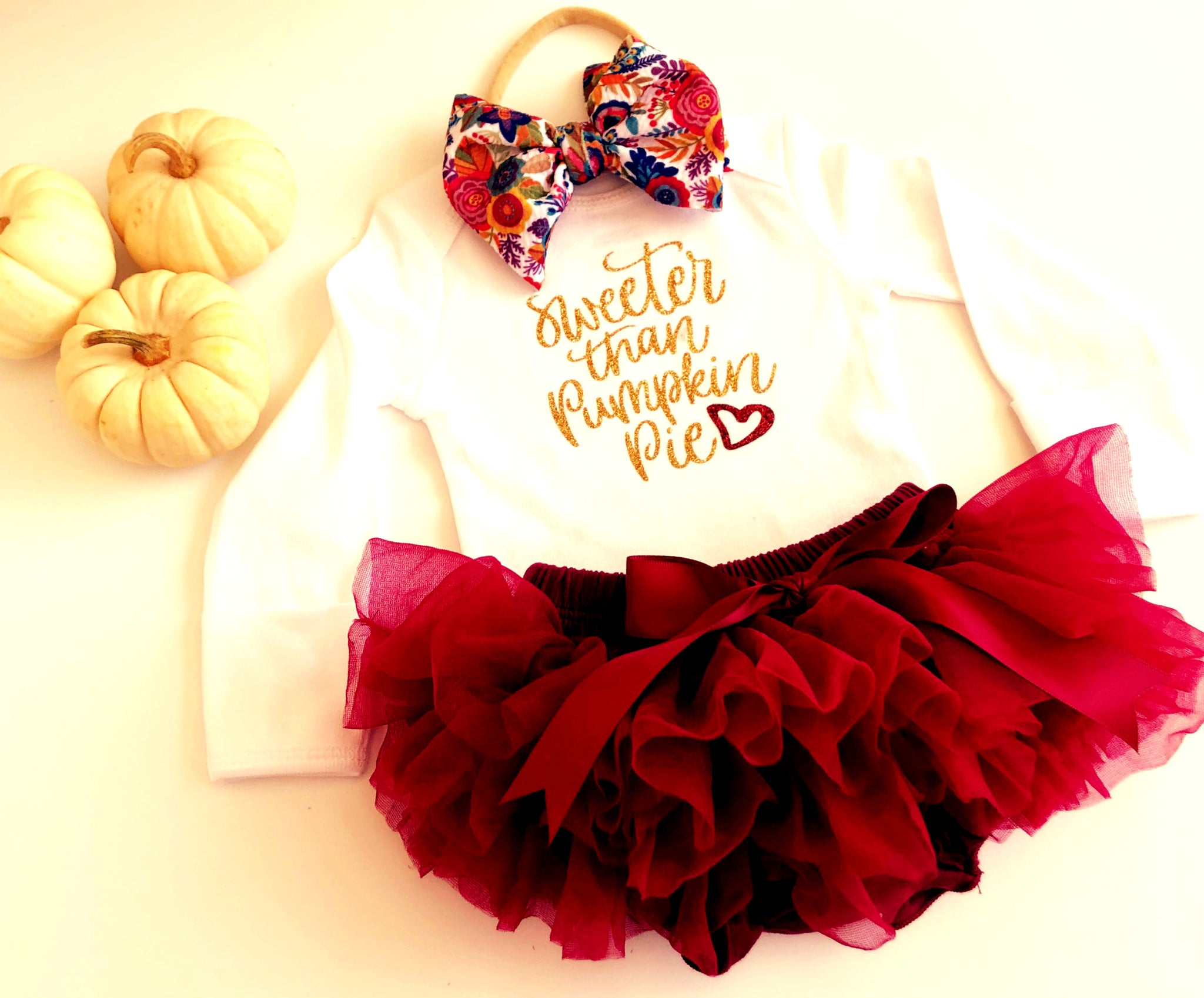 Newborn Girl Thanksgiving Outfit, Fall Outfit for baby girls