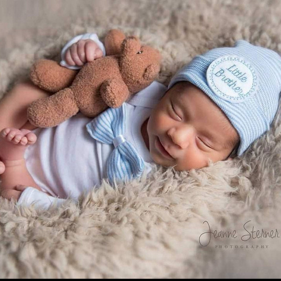 Little Brother Newborn Boy Outfit