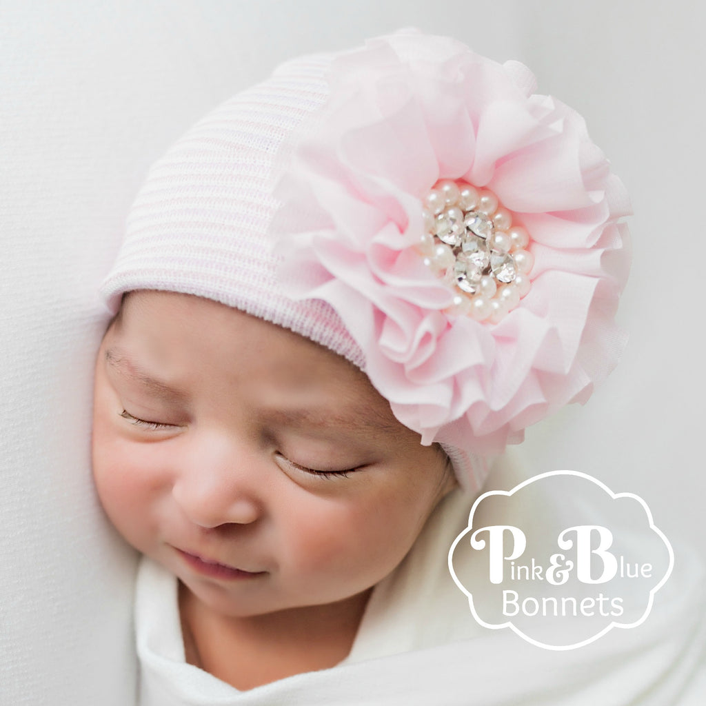 Newborn girl flower hat, newborn girl photo prop