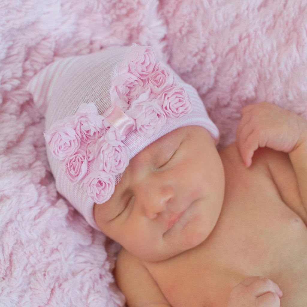 Newborn Girl Hat, Baby Girl Hat with Bow