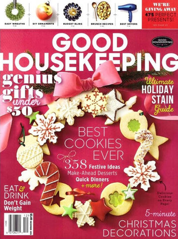 GOOD HOUSEKEEPING MAGAZINE DECEMBER 2016 Cover