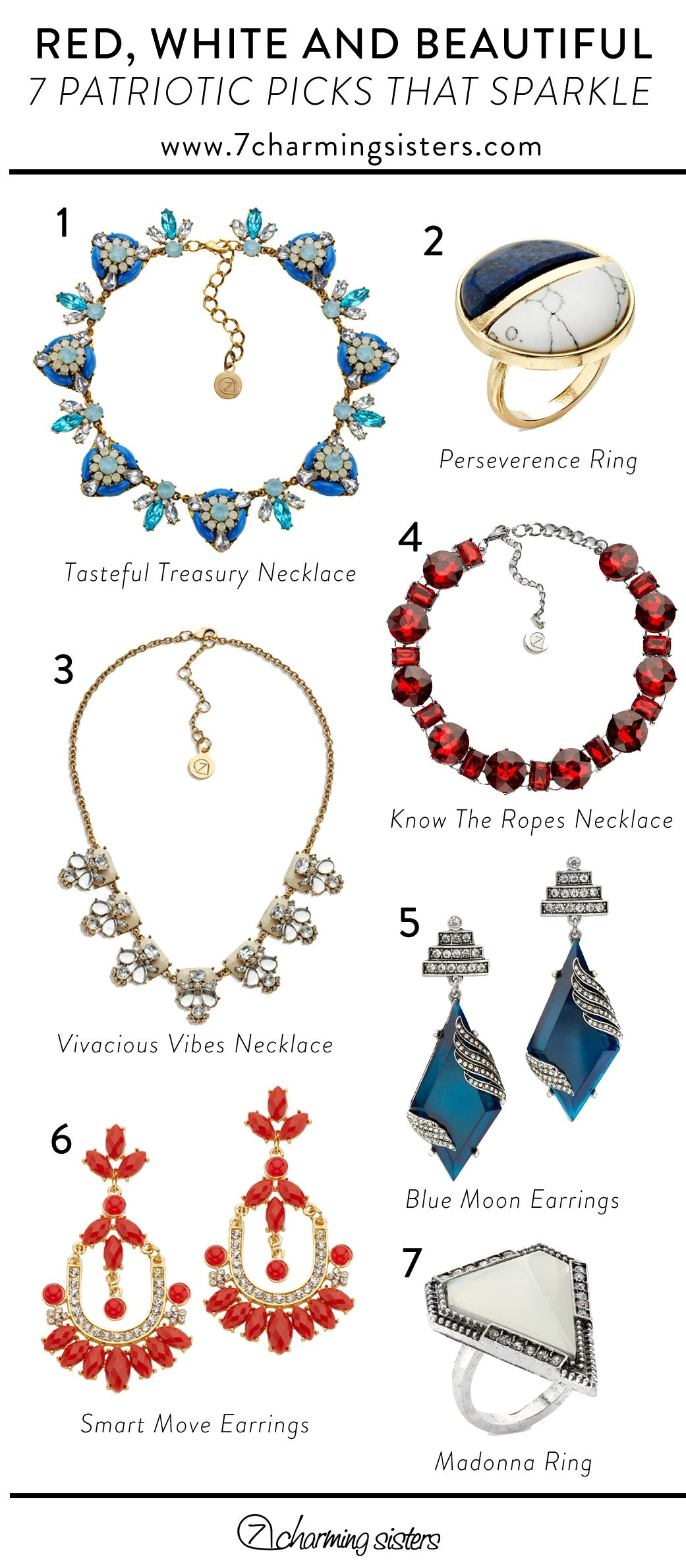 Infographic of Beautiful Patroitic Jewelry