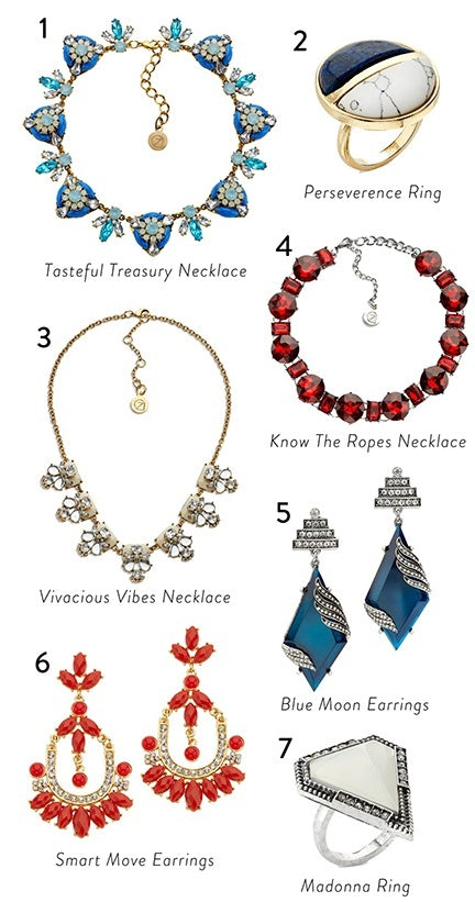 Red White And Beautiful Patroitic Jewelry
