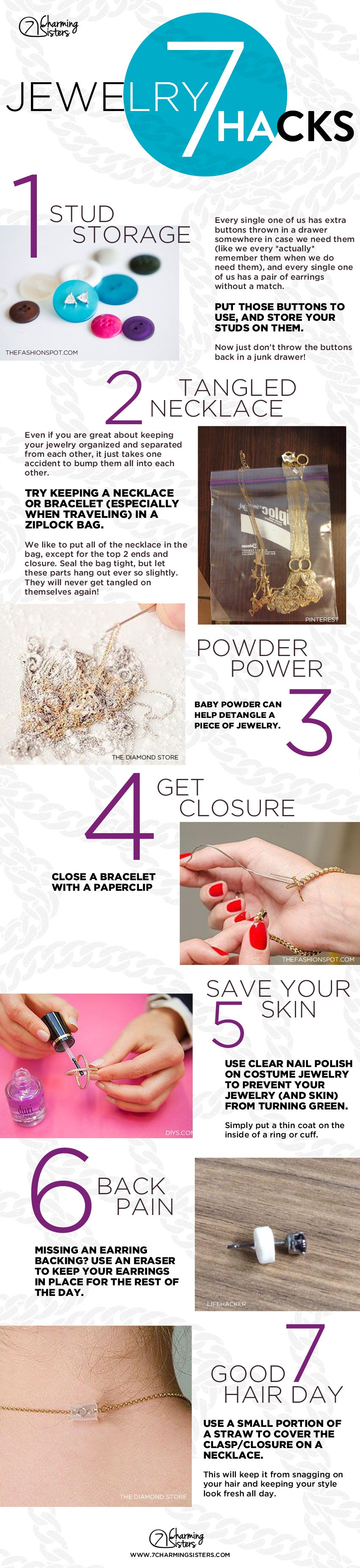 7 Jewelry hacks every girl should know