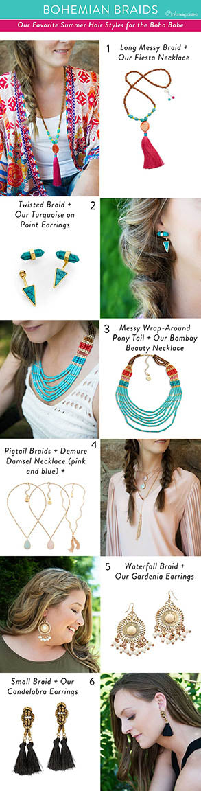 Boho turquoise and tassles for a subtle look