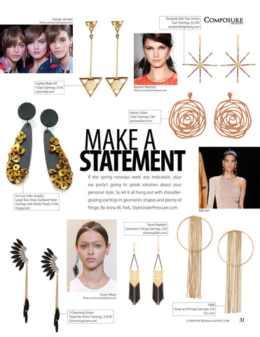 Statement Earrings in Composure - 7 Charming Sisters