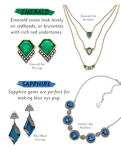 Emerald and Sapphire Jewelry for a Bright and Vintage Look