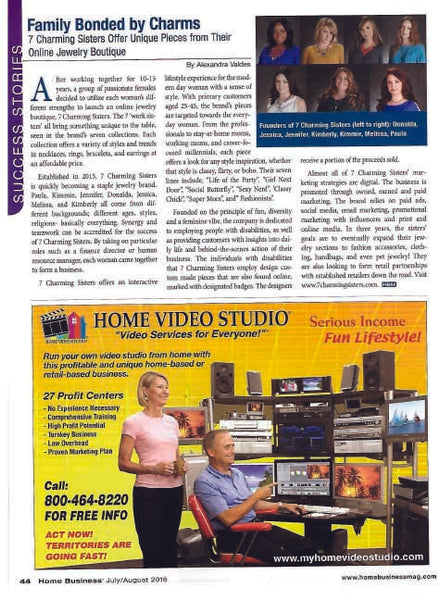 7 Charming Sisters featured in Home Business Magazine