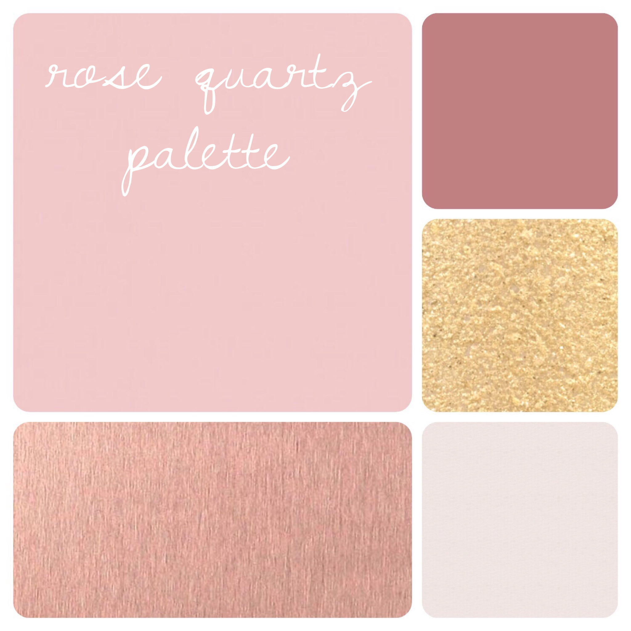 Rose Quartz Palette for Formal Events