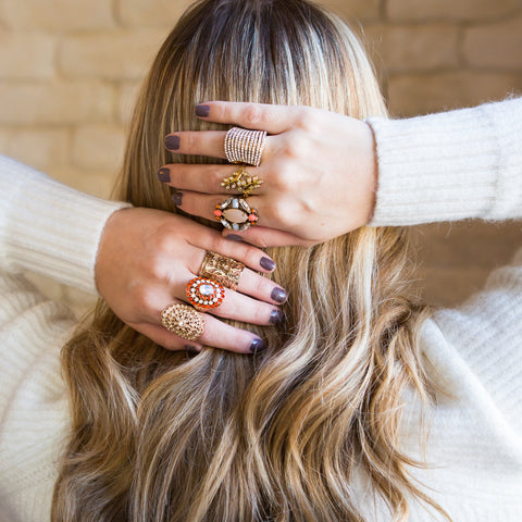 How to Wear Midi and Stacking Rings - 7 Charming Sisters