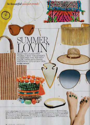 Accessories for Summer in Latina Magazine