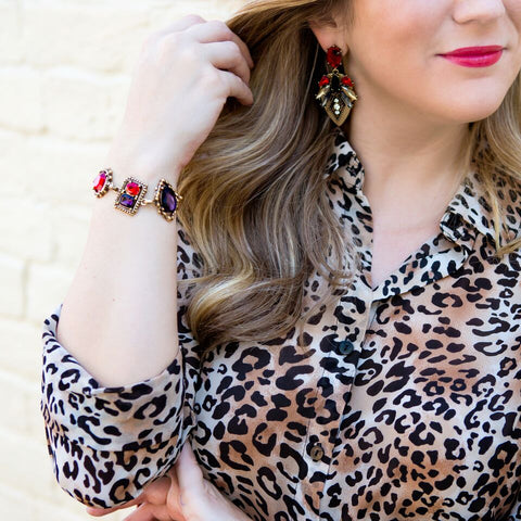 sexy red bracelet & earrings