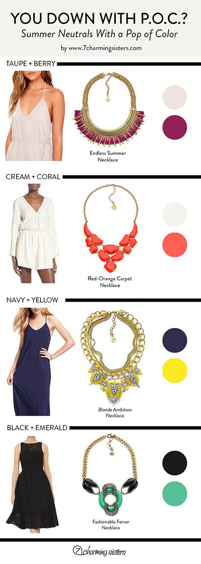 Infographic: Accessorizing with POPs of Color