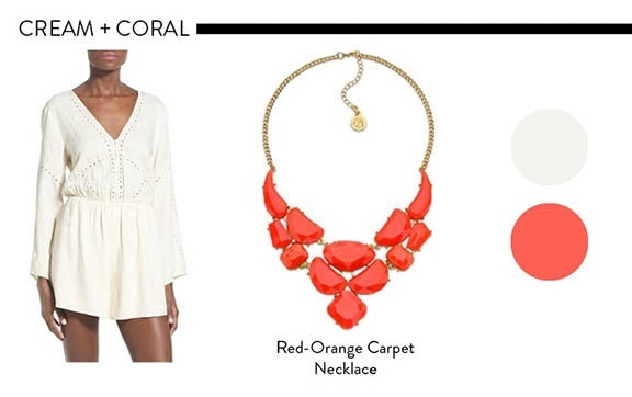 Cream and Coral Color Combinations