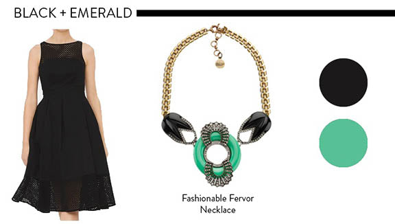 Black and Emerald Color Combinations