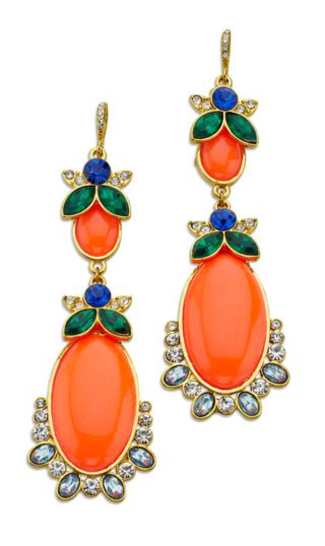 Orange Halloween Earrings