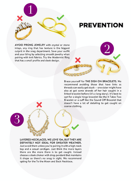 Jewelry Loves to Snag on Your Clothes, Here's How To Prevent That
