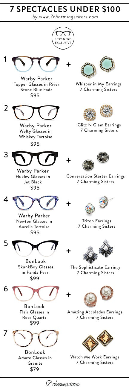Be Sexy, Nerdy, and Fashionable with these Cute, Affordable Glasses and Jewelry