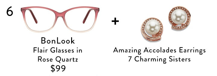 Fashionable and Cute Glasses and Jewelry for A Nerdy Look