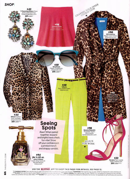 Green Floral Earrings Featured In Style Watch Magazine