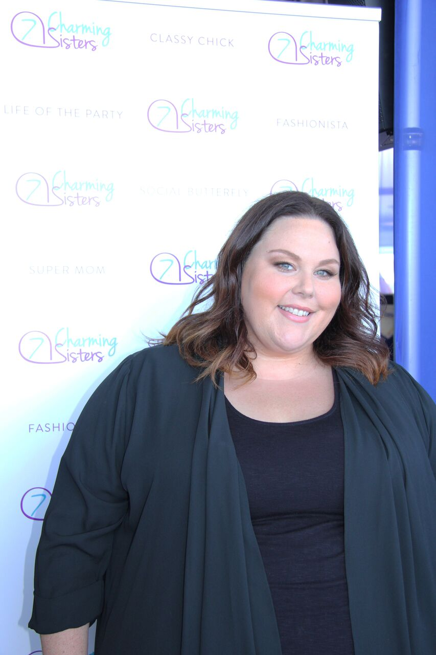 Chrissy Metz from American Horror Story with 7 Charming Sisters jewelry company at 2016 Emmys
