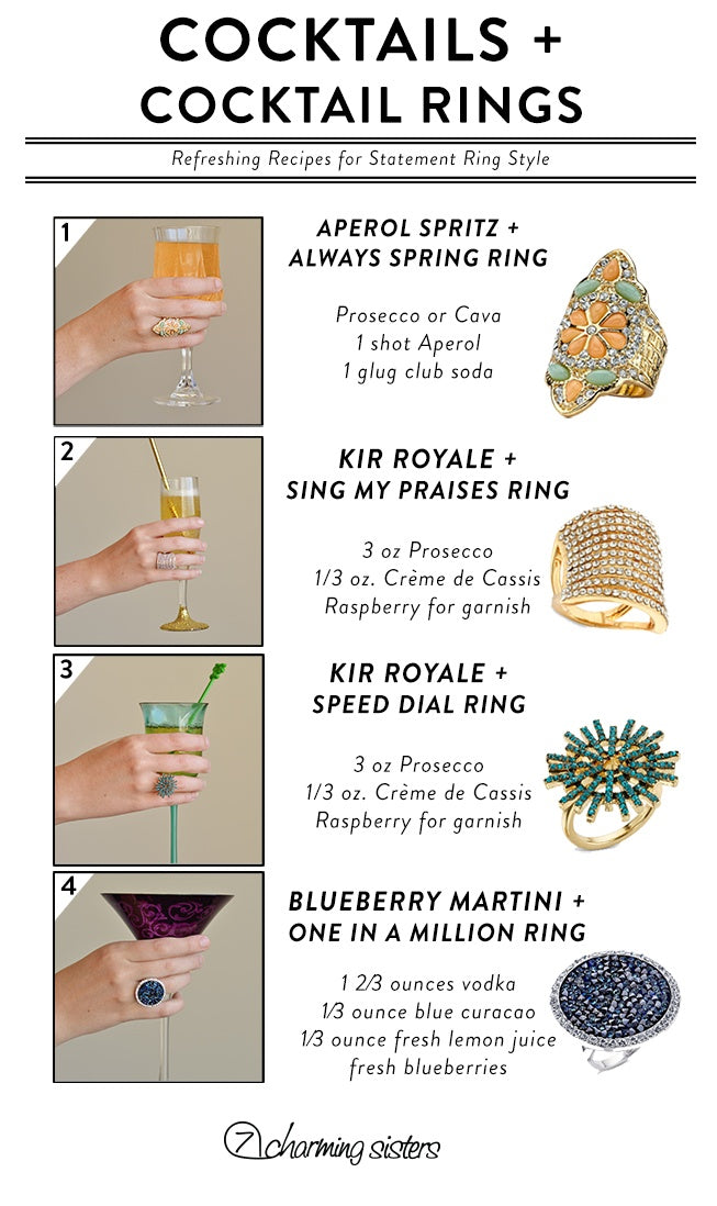 Infographic: Cocktail Rings and Cocktail Combos