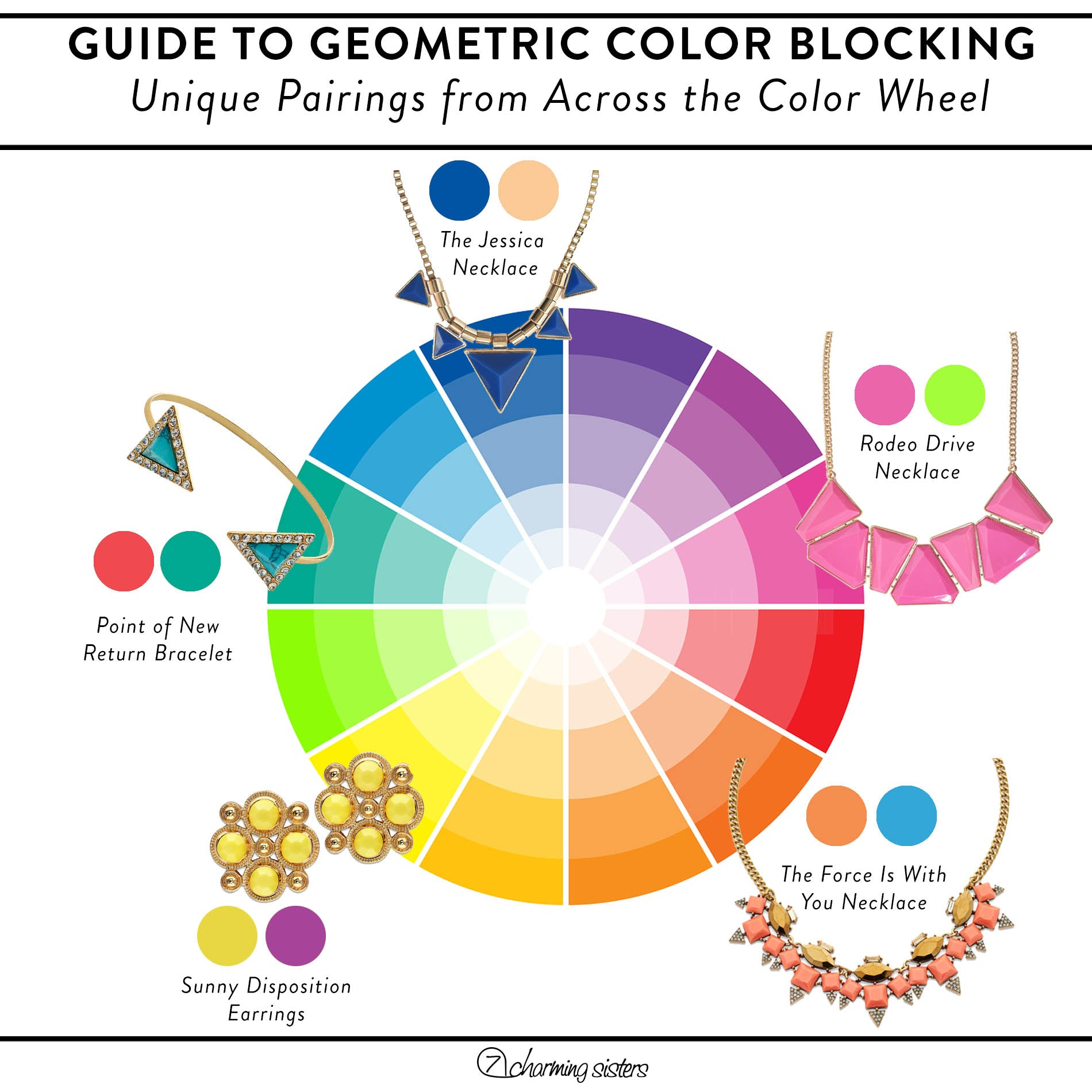 Color Wheel Infographic: Color Blocking like a Pro
