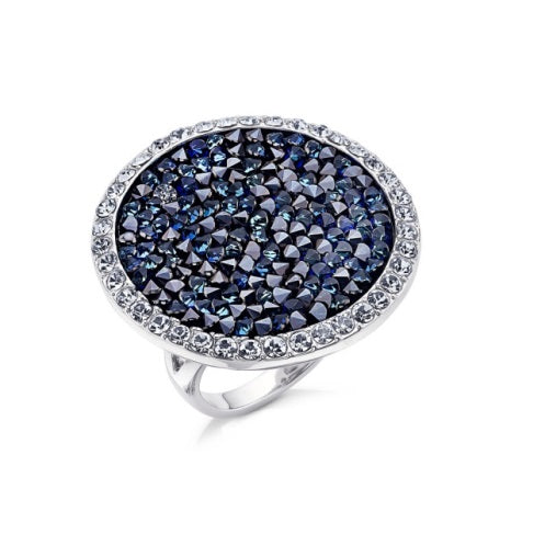 Blue Crystal Cocktail Ring
