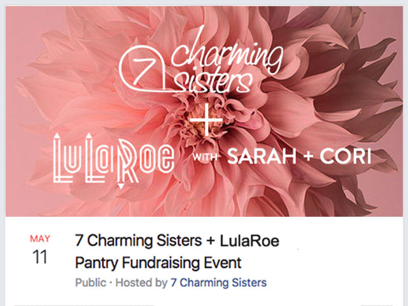 Facebook Event page - 7 Charming Sister